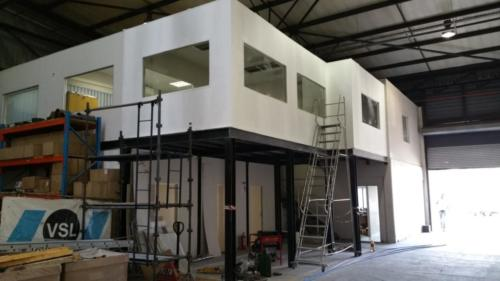 Mezzanine floor and drywall offices for VSL South Africa in Elandsfontein